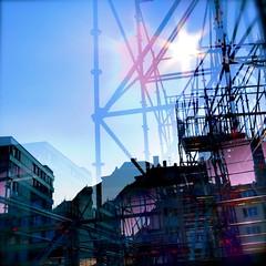 713 (visualimpakkt) Tags: germany square deutschland stuttgart quadro quadrato gegenlicht quadrat cuadrado gerüst carrée quadratique quadrique cuadrático quadratico