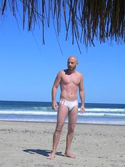 Beach Boy (rocco0574) Tags: man beach underwear playa hombre trajedebao swisuit