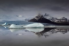 Fjallasrln Reflections, South-East Iceland (Sophie Carr Photography) Tags: mountains reflections iceland glacier peaks icebergs glaciallake southeasticeland fjallasrln