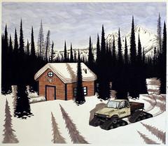 UTAH (danielucasmueller) Tags: trees snow illustration truck utah cabin brighton drawing pickup toyota