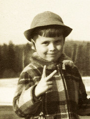Jimmy Griffin, aged Five, Dummer, New Hampshire, Easter Week 1951 (JFGryphon) Tags: dummer newhampshire 1951 easterweek