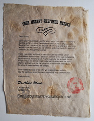 Your urgent response needed... (id-iom) Tags: england urban art vintage print cool screenprint email scam aburi phishing idiom emailscam