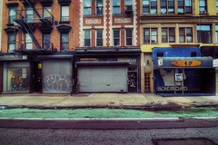 Underwear and Sea Food - Rivington Street (mgarbowski) Tags: storefront emptycity nyscene colorefex d700 1424mm procontrast markgarbowskiphotography tmg2012 filmeffectsnostalgia