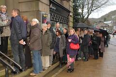 The queue outside Hebden Bridge Picture House