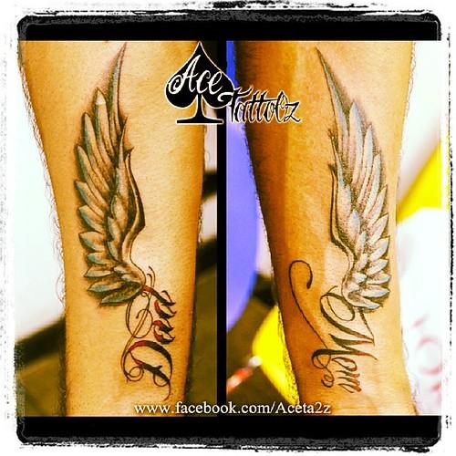 ade0c8958 #mom #dad #tattoo #wings #freedom #tattooartist #mumbaitattoos #acetattooz