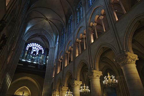 Notre Dame Interior Upper Arches
