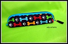 estojo porta lápis (♥Edy Arteira®♥) Tags: portalápis estojo