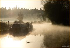 Morning Mist (Resilient741 Photography) Tags: old morning mist art water river landscape photography boat canal photo duck view union bedfordshire grand buzzard leighton grebe linslade