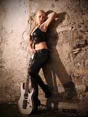 Feeling Rock (RaphalPhoto) Tags: portrait black fashion rock metal model glamour photoshoot guitar boudoir shooting ibanez
