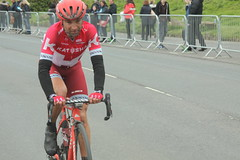 Angel Vicioso Arcos  Katusha (Steve Dawson.) Tags: uk england car bike race canon eos is 1st yorkshire may cycle tdy scarborough usm ef28135mm seafront stage3 uci peloton spares 2016 f3556 50d ef28135mmf3556isusm katusha canoneos50d tourdeyorkshire angelviciosoarcos