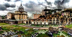 (El Cheech) Tags: gloomy cloudy clouds photography ruins romans italy history architecture rome