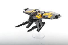 Gliesian Impi33m fighter (Adrian Florea) Tags: lego space military stickers boom scifi guns spaceship moc wakkawakkawakka foitsop