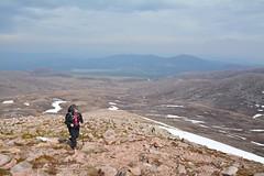 Looking back down towards Loch Morlich (nic0704) Tags: mountain walking t landscape scotland highlands outdoor hiking hill peak an ridge climbing summit mountainside cairn gorm scramble cairngorm cairngorms foothill lochan coire sneachda fiacaill