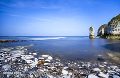 Selwicks Bay, Flamborough #Explored No.13 (22 May 2016) (MichikoSmith) Tags: uk blue sea england cliff beach water rock 30 canon eos bay long exposure yorkshire north stack east pebble riding filter 6d flamborough selwick secounds zomei