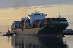 Barbara (jelpics) Tags: ocean sea boston port harbor boat justice ship massachusetts vessel barbara tug containership bostonma tugboats bostonharbor cargoship massport merchantship commercialship conleyterminal