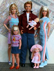 Family (Emily-Noiret) Tags: family friends love vintage stacie dolls ken barbie skipper kelly krissy mattel