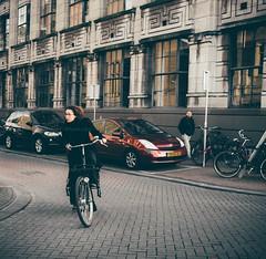 Turner A Corner (a g n  s) Tags: amsterdam cyclist