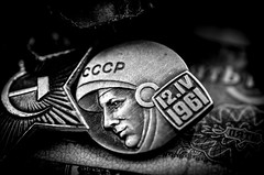 USSR (Stephen-Hotratz-Long) Tags: soviet ussr lenin currency russia bw monochrome mono communist pentax pentaxart tamron k5 macro hammerandsickle socialist socialism noiretblanc