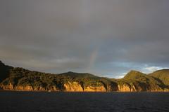 Rainbow over Raoul Island (cathm2) Tags: newzealand kermadecs raoul island travel sea coast rainbow clouds