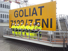 Goliat: il gigante dei mari/ Goliat, the giant of the seas (A major integrated energy company) Tags: workers ceo nord eni artico hammerfest goliat fpso claudiodescalzi