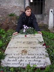 Ian Ayres @ Percy Bysshe Shelley grave (Rome, Italy) (LoveMattersMost) Tags: cimitero acattolico di roma ian ayres percy byshe shelley rome italy