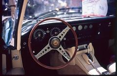 (Driving With Diabolik) (Robbie McIntosh) Tags: leicamp leica mp rangefinder streetphotography 35mm film pellicola analog analogue negative leicam summilux analogico leicasummilux35mmf14i summilux35mmf14i autaut filmisnotdead fujiprovia100f fujiprovia fujiprovia100 slide slidefilm transparency sandro car classiccar jaguaretype jaguar jaguare wheel interiors diabolik