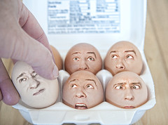 Egg Heads 2 (BamaCam) Tags: funny faces humor eggs eggcarton