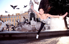 Women Are Beautiful. ( Christopher Murray Holt) Tags: woman sun hot art water girl beautiful birds asian photography flying nice pigeon dove christopher kungfu sword holt lovely powerful murray tran peacful hlne matial