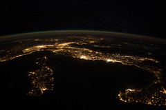 European Panorama (NASA, International Space Station, 01/25/12) (NASA's Marshall Space Flight Center) Tags: sardegna venice italy france milan rome