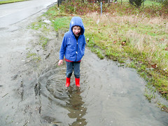 Happiness is a deep puddle (Jeff Youngstrom) Tags: nathan issaquah