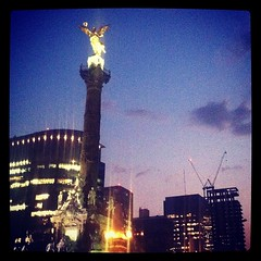 The Angel at Dusk #mexico #mexicocity #mexicodf
