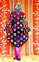 Abstact Pop Art Crochet Cardigan (babukatorium) Tags: pink blue red orange black color green art wool fashion yellow dreadlocks circle sweater funny colorful purple recycled handmade turquoise oneofakind web coat crochet moda violet style mandala retro blonde button hexagon hippie dread psychedelic dreads rasta cardigan bohemian multicolor whimsical extensions darkblue fakehair haken fakedreads hkeln emeraldgreen croch grannysquares ganchillo fuxia uncinetto biondi yarnhair fattoamano woolhair capellifinti yarndreads  dreadextension tii horgolt wooldread woolrovingdreads fakedread babukatorium