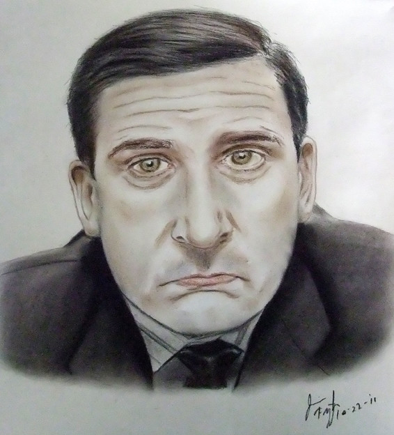 "Actor Steve Carell as Michael Scott from ""The Office"""