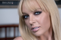Jessie Edit (4x6) (shallowend) Tags: portrait sexy mouth bed bedroom blueeyes lips piercing blonde boudoir stud edit onone lastolite 4x6 cs5 sb900 ezybox