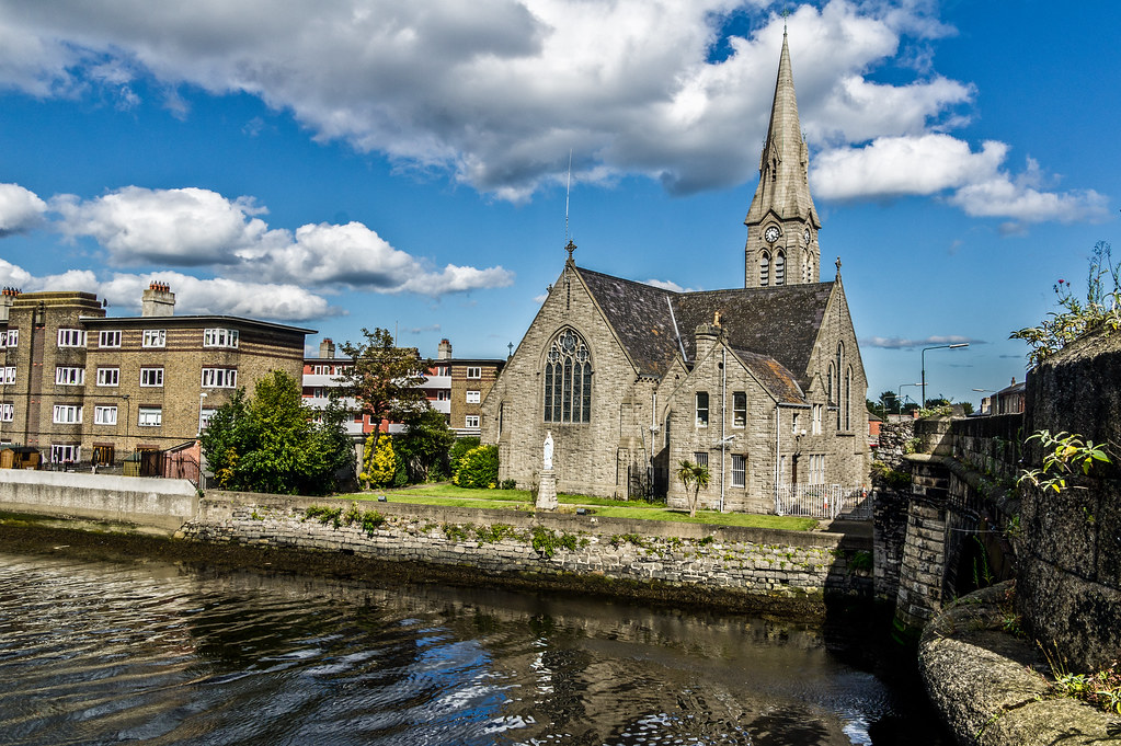 River Dodder Flowing Past St. Patrick's Church