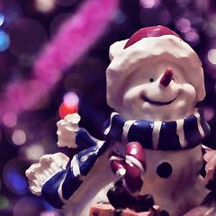 Little snowman (Kate Tsib) Tags: new cute beautiful happy snowman little bokeh thing year merry christman macrodreams