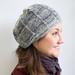 Grey 'Aduki' hat by suziesparkle