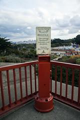 Donation Box (Leighton Wallis) Tags: sanfrancisco california birthday ca bridge usa bay unitedstatesofamerica goldengatebridge oddities internationalorange 75thanniversary ggnpc11