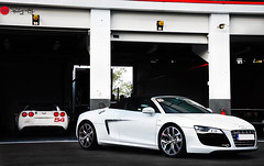 Dark side of the pitlane... (nandrphotography.com) Tags: audi corvette r8 magnycours audir8 worldcars christophetinseau tinseautestdays