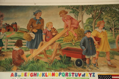 WPA mural in the children's ward