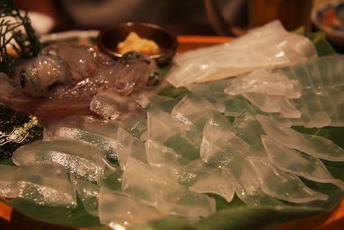 泳ぎイカの刺身