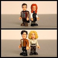 A Couple of cute couples (Hellbelly) Tags: toy doctorwho riversong timeistheenemy toysunday amypond rorywilliams toysundaycutecouple