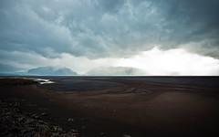 Clouds (Da.vid.) Tags: blue light sky brown mist water rain rock clouds iceland sand glacier thunderstorm canon1635mm28lusm canon5dmkii