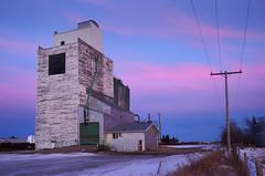 Vibank elevator (Harry2010) Tags: blue sunset elevator bluesky colourful saskatchewan prairies grainelevator vibank