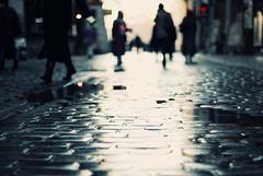 Shopping!!! (ewitsoe) Tags: christmas city morning winter people sunlight streets cold history beautiful shopping 50mm nikon perspective poland krakow crakow cobblestone activity errands lowpov decemebr d80 visitpoland