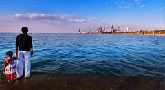 Meditation of the city (khalid almasoud) Tags: city sea beach canon eos flickr all photographer  rights estrellas meditation kuwait khalid reserved   50d almasoud flickraward  thebestofday gnneniyisi