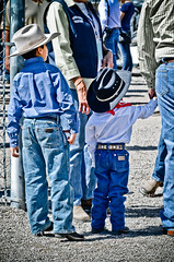 Going to the Tucson Rodeo with Dad (xTexAnne) Tags: family arizona cowboy tucson rodeo cowboyhat wrangler littlecowboy nikond7000 ©diannewhite