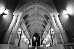 Path to Greatness (Andrew W.....) Tags: light blackandwhite bw building college monochrome japan architecture stairs concrete tokyo hall education nikon university path grow william andrew study marble enlightenment educate learn awc cornwell keiouniversity d7000