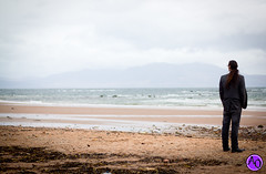 Seamill Hydro (Lisa Heidinger Photography) Tags: pink sea holiday beach hair landscape hotel seaside cowboy purple boots cowboyboots seamill saltcoats seamillhydro westkilbride longhait
