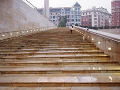 Up The Guggenhiem Steps